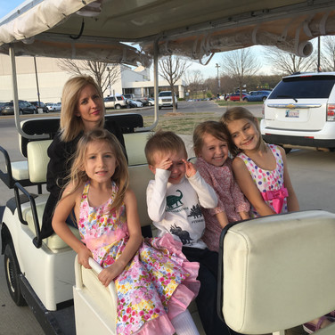the Stirling Family took my girls to church on Easter