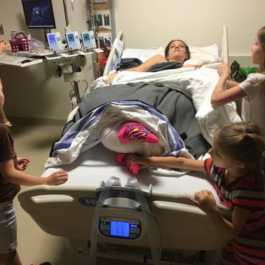 my girls praying over me