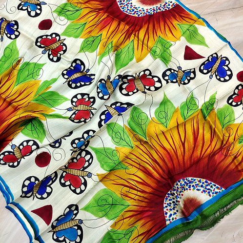 Printed Silk (Hand Paint)