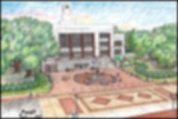 Acadia Parish Courthouse Plaza Rendering