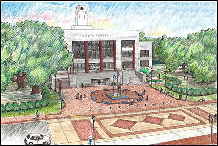 Acadia Parish Courthouse Plaza Rendering