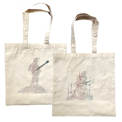 DOUBLE-SIDED TOTE BAG