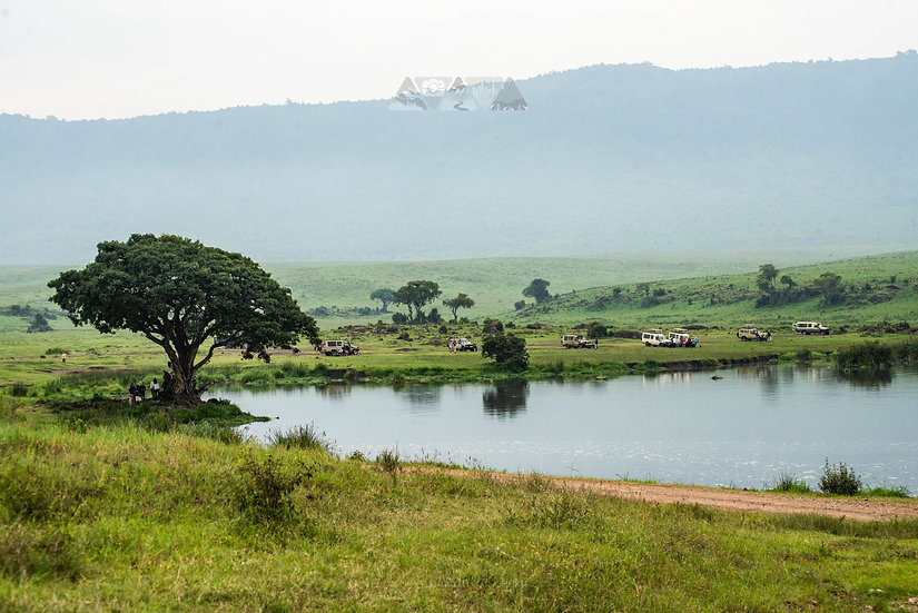 Lake on Serengeti
