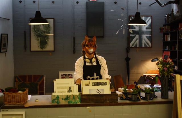 In the I love Compost Studio, Market Hall, Shrewsbury