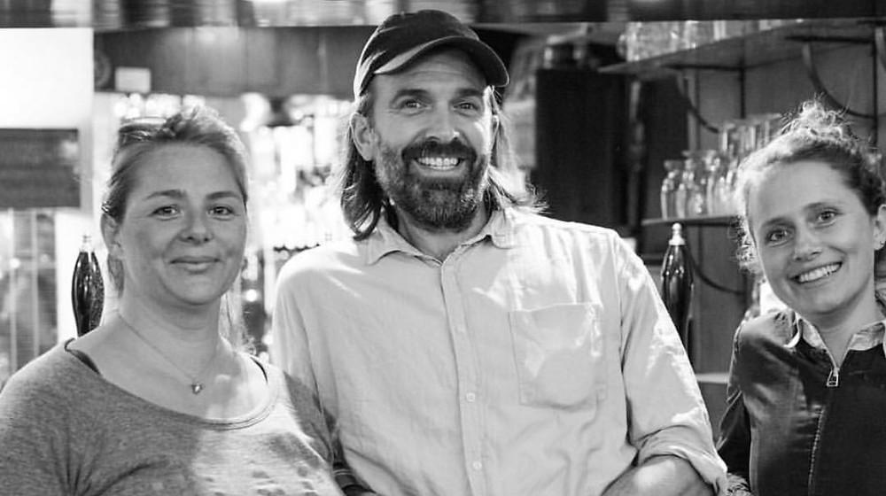 Jorn, Hannah and Sam at The Dog & Pheasant Pub