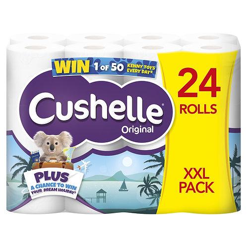 48 CUSHELLE ORIGINAL TOILET ROLLS (2 X PACKS OF 24)