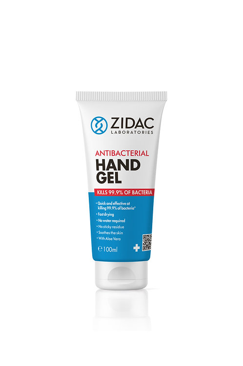 3 X 100ML ZIDAC ANTI BACTERIAL HAND GEL HOSPITAL GRADE