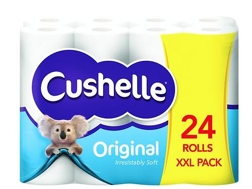 24 CUSHELLE ORIGINAL TOILET ROLLS