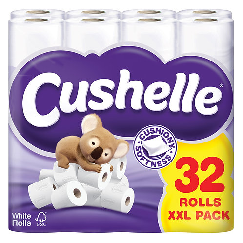 CUSHELLE 96 PACK CUSHION SOFT TOILET ROLLS