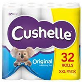 CUSHELLE 32 PACK ORIGINAL CUSHION SOFT TOILET ROLLS
