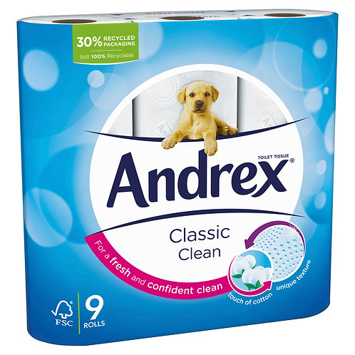 ANDREX 45 CLASSIC CLEAN SOFT TOILET ROLL