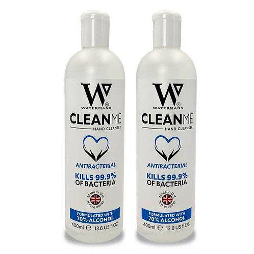 CLEAN ME - HAND SANITISING GEL - 2 x 400MLS
