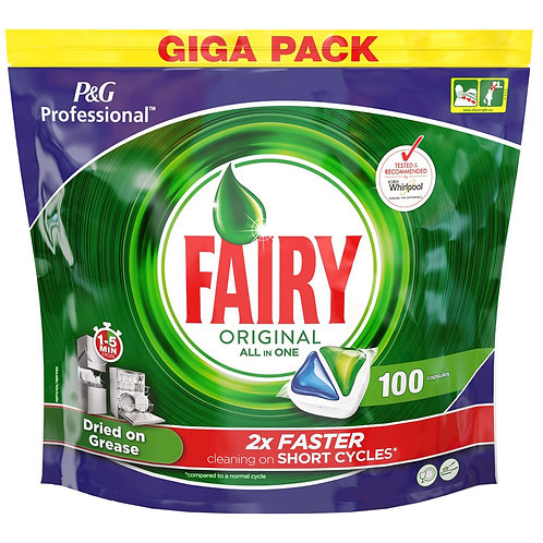 "100 ""FAIRY"" ORIGINAL ALL IN ONE DISH WASHER TABLETS"