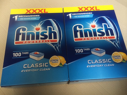 200 x Finish XXXL LEMON Powerball DW TABS -