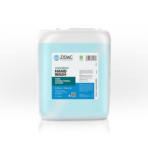10 ltrs ZIDAC ANTI BACTERIAL CLEANSING HAND WASH- (2 x 5ltrs)
