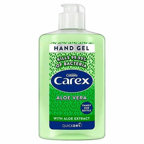 6 x 300ml Carex Anti Bacterial Hand Gel - Aloe Vera ++ FREE 50ML HAND GEL