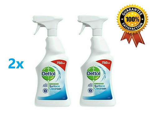DETTOL ANTI BAC CLEANSER SPRAY 4 X 750ML