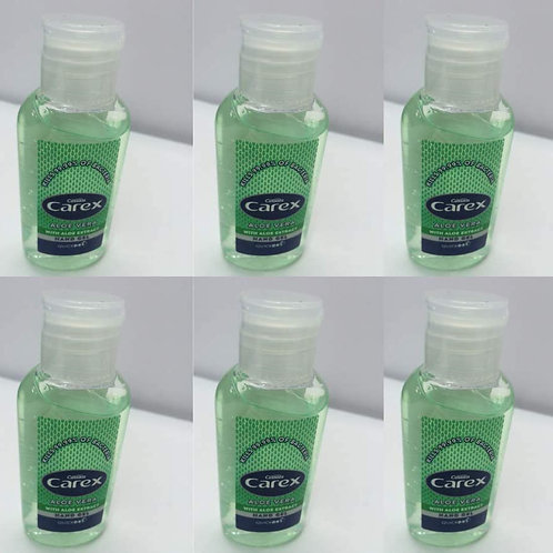 12 x 50ml Carex Anti Bacterial Hand Gel - 70%