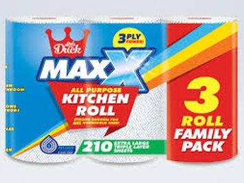 12 MAXX JUMBO 3PLY SUPER ABSORBANT KITCHEN ROLLS
