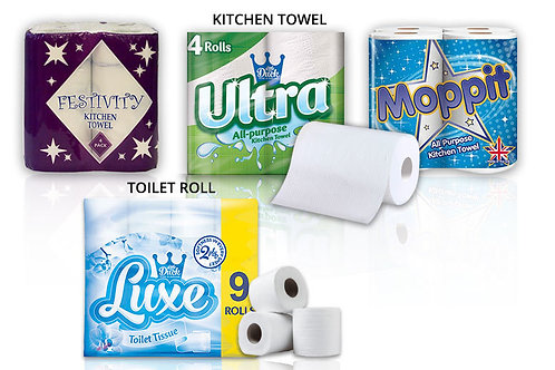 45 x SO SOFT 3PLY WHITE Toilet Rolls + 24 Kitchen Rolls