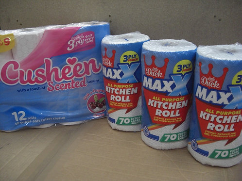 120 Cusheen Aloe Vera, Cherry or White +12 Extra-Large Rolls MAXX Kitchen Towels