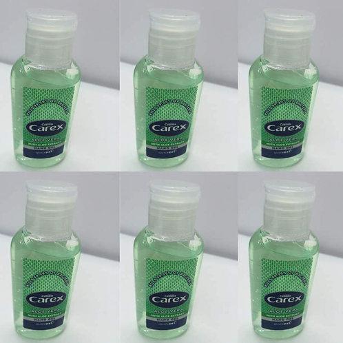 6 x 50ml Carex Anti Bacterial Hand Gel - 70%