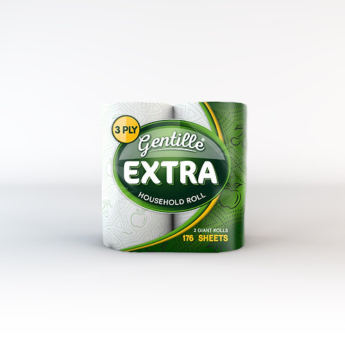 12 PACK 3PLY GENTILLE EXTRA LARGE KITCHEN ROLLS