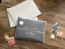 Vellum Envelope with White Ink