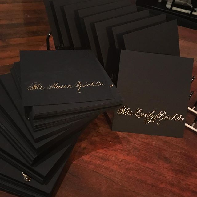 Elegant Black Place Card