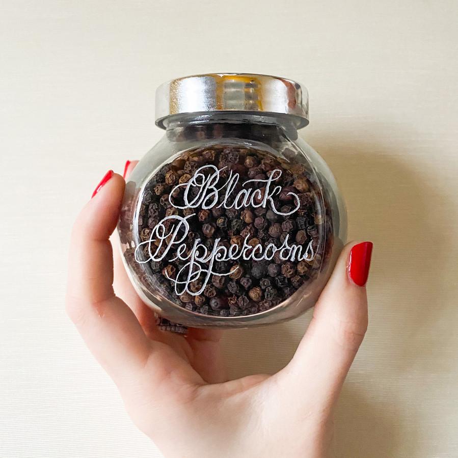 Engraved Spice Jar