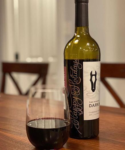 Engraved Dark Horse Wine Bottle