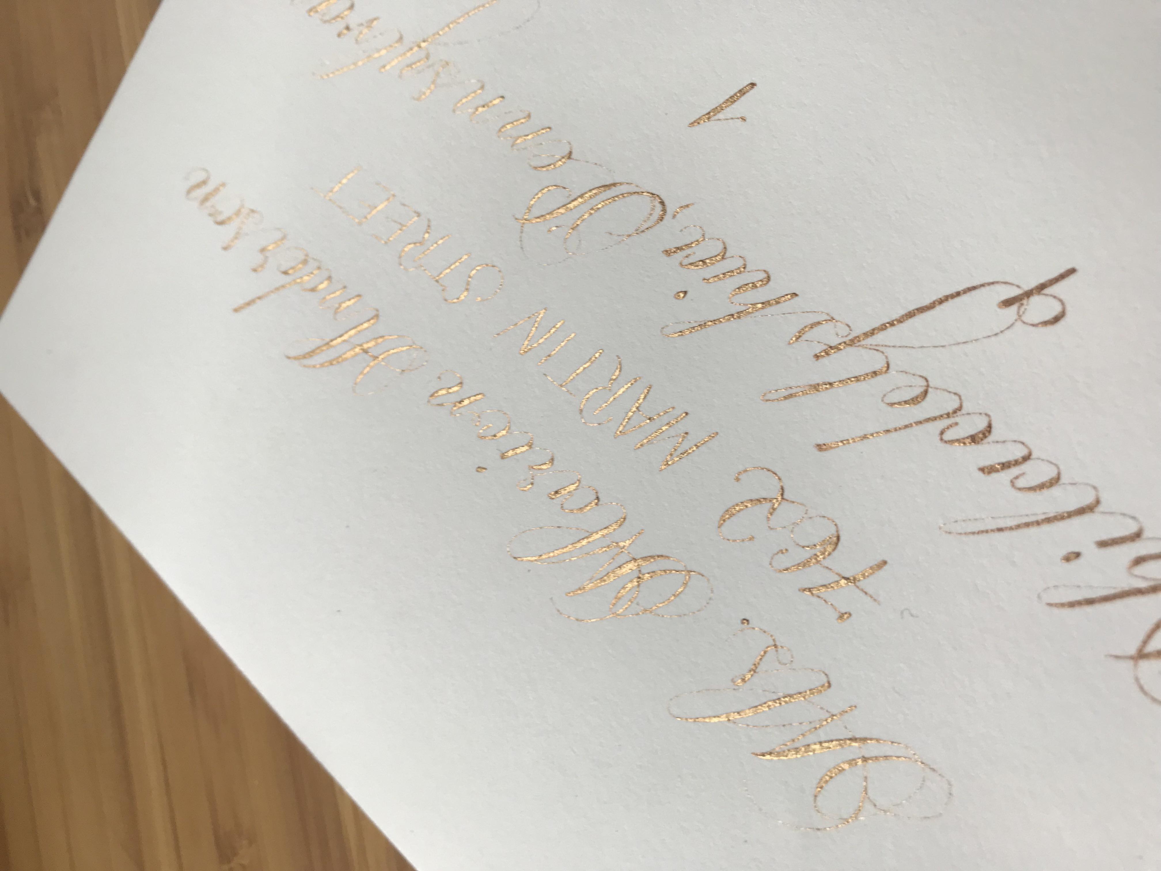 Elegant Calligraphy Wedding Envelope