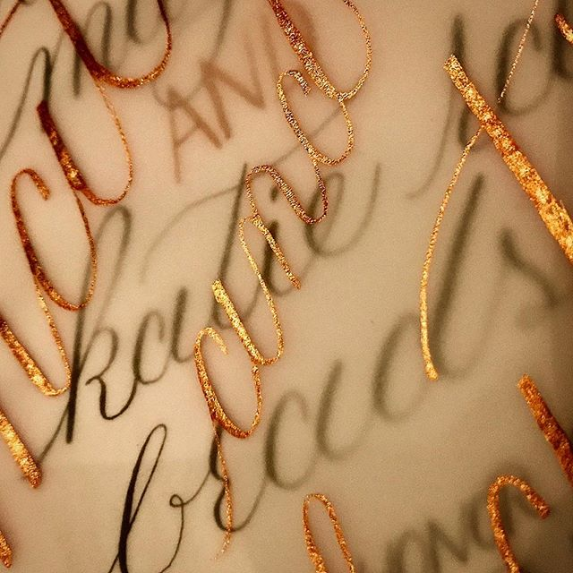 Modern Classic Calligraphy on Vellum