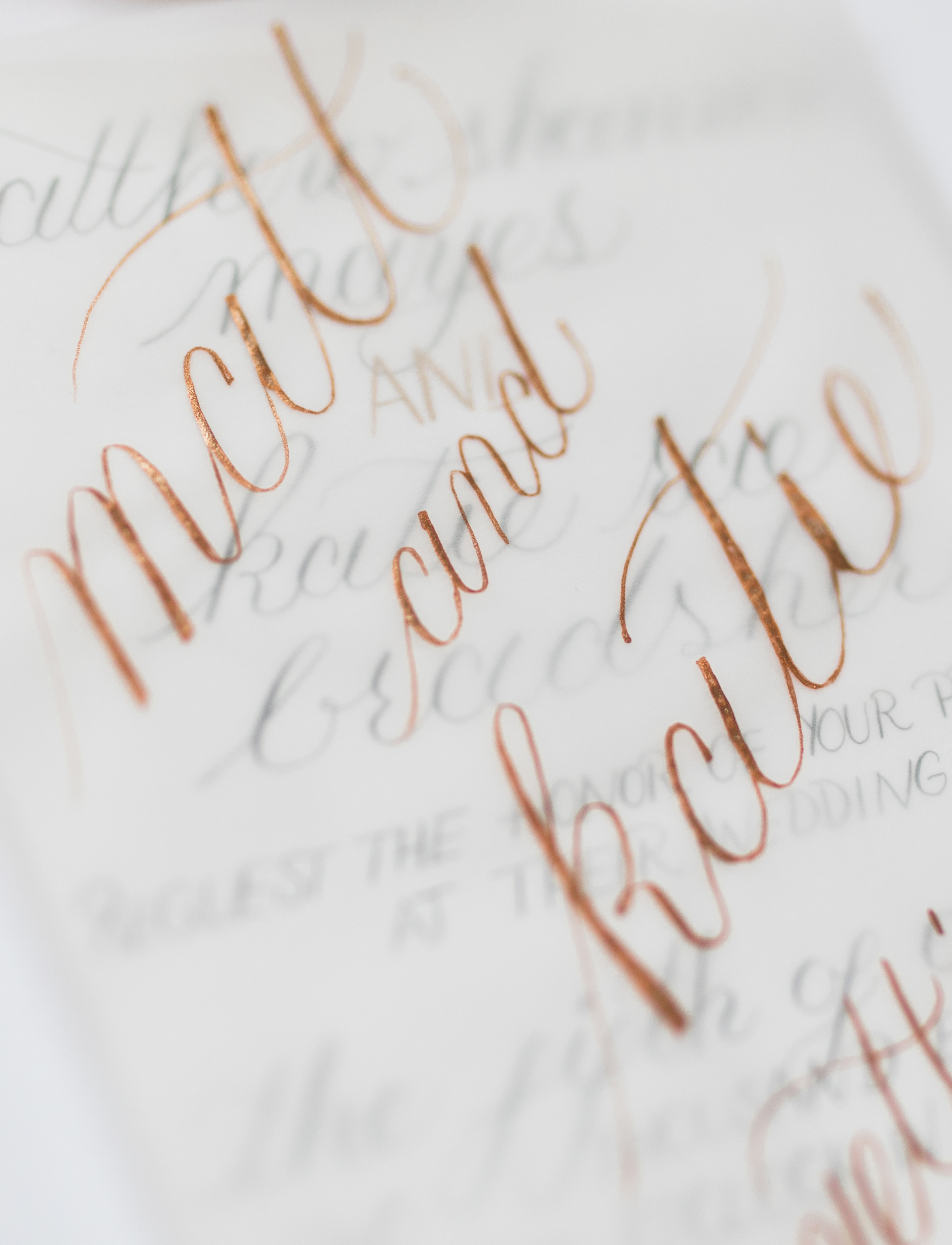 Modern Classic Wedding Calligraphy