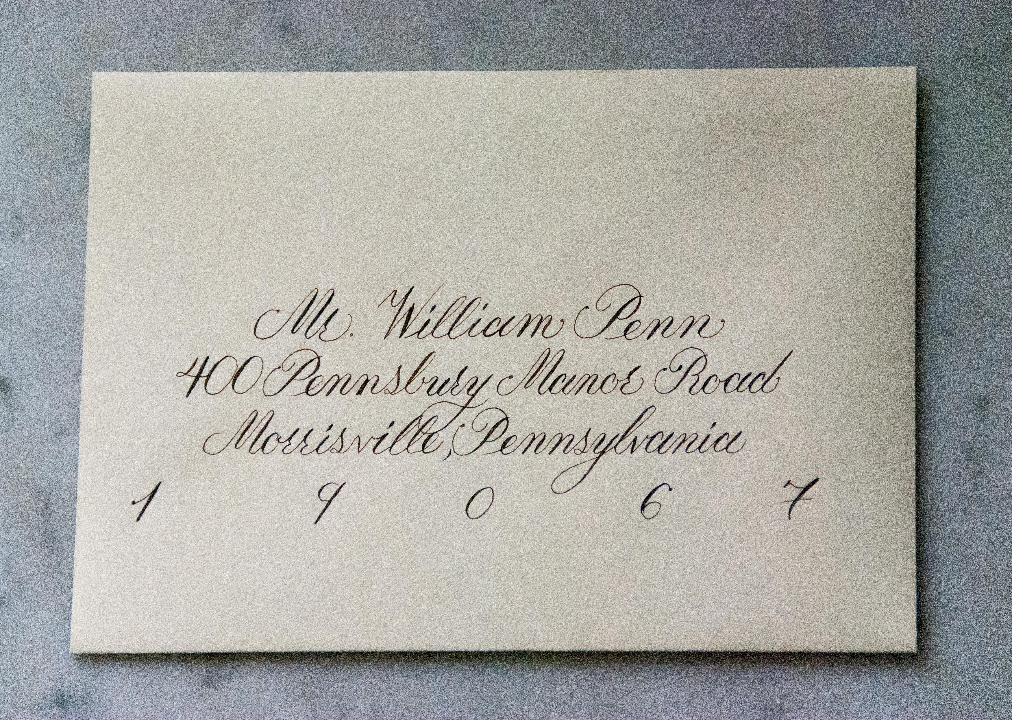 Classic Calligraphy Envelope