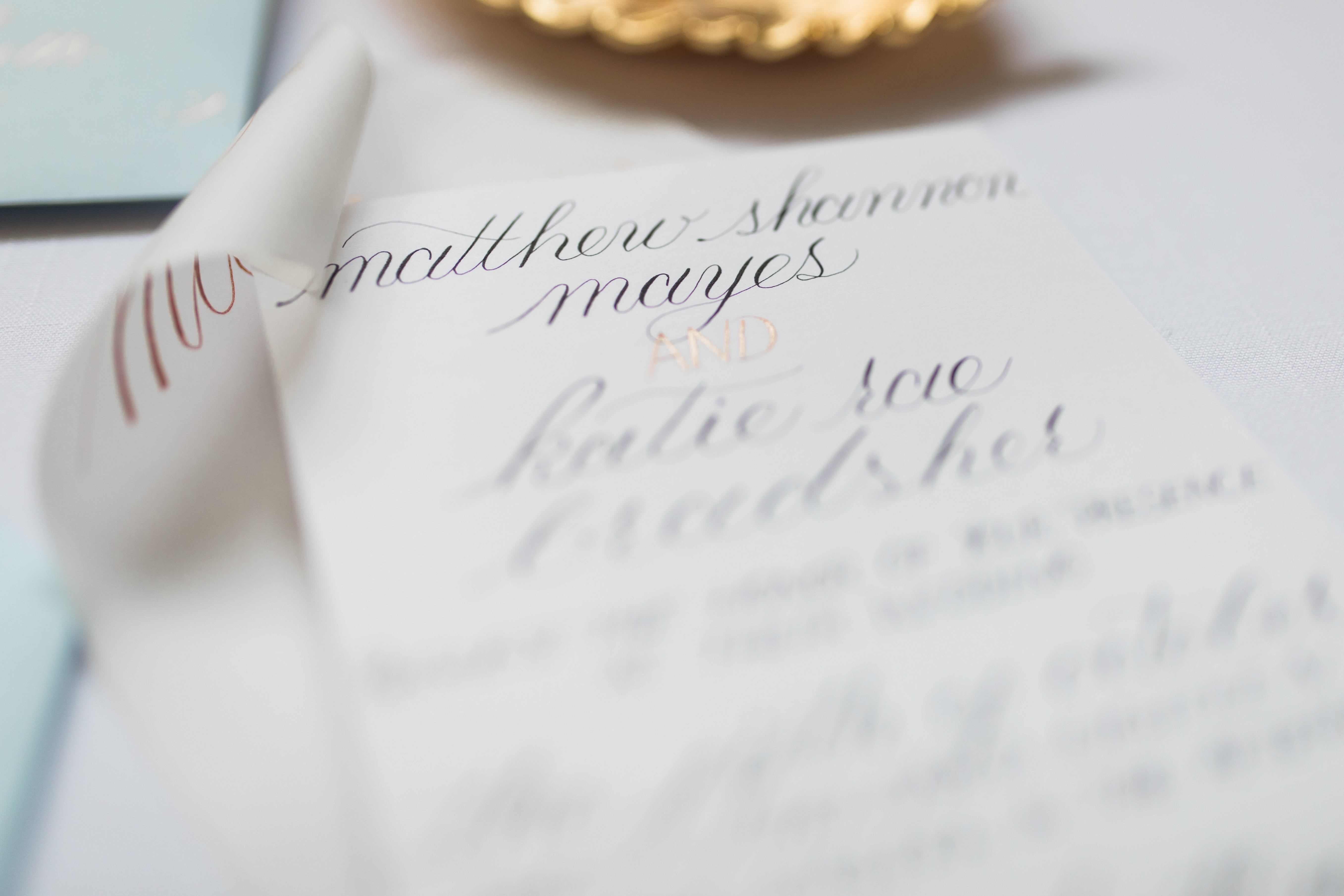 Modern Classic Calligraphy Envelope