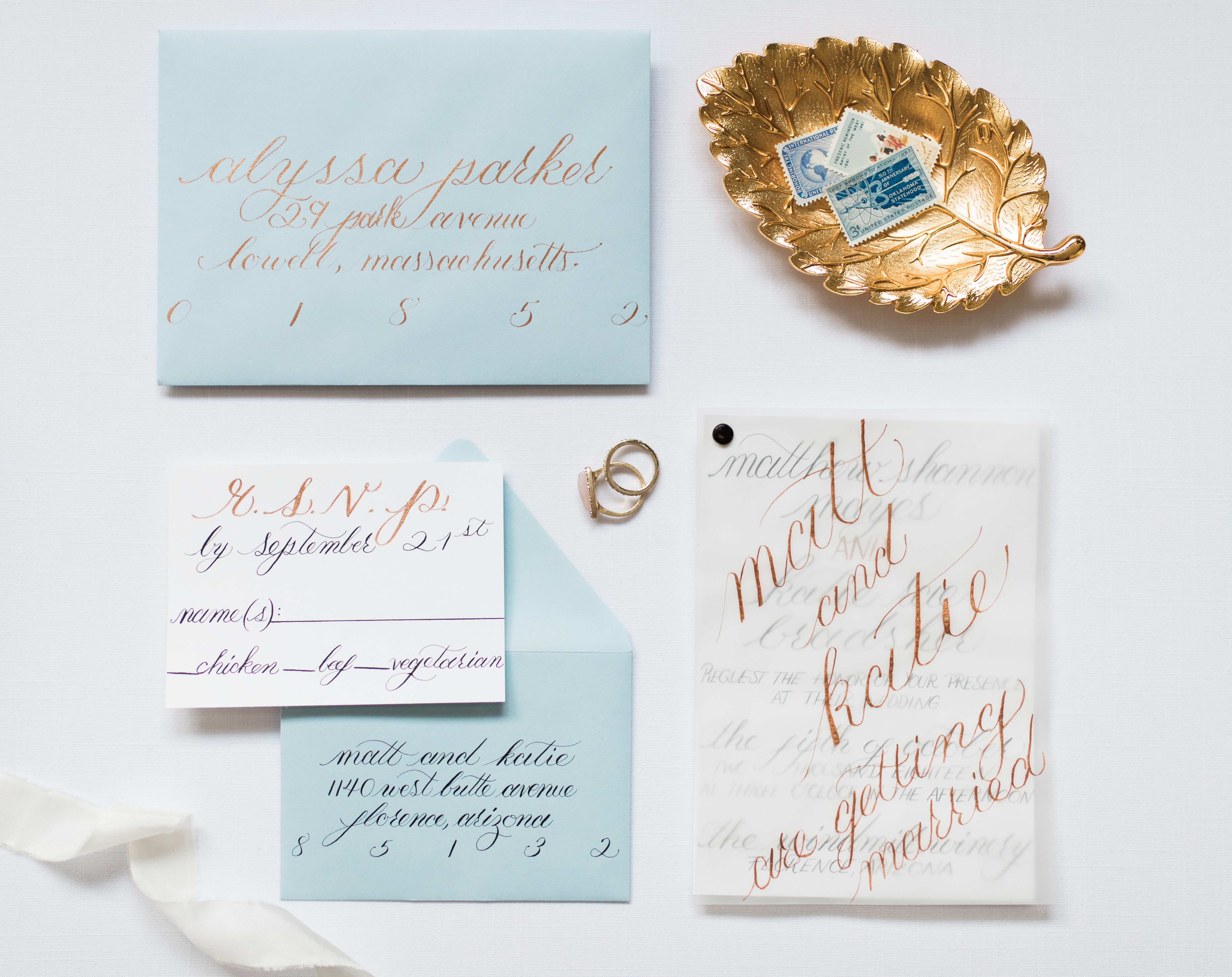 Modern Classic Calligraphy Invitation Suite