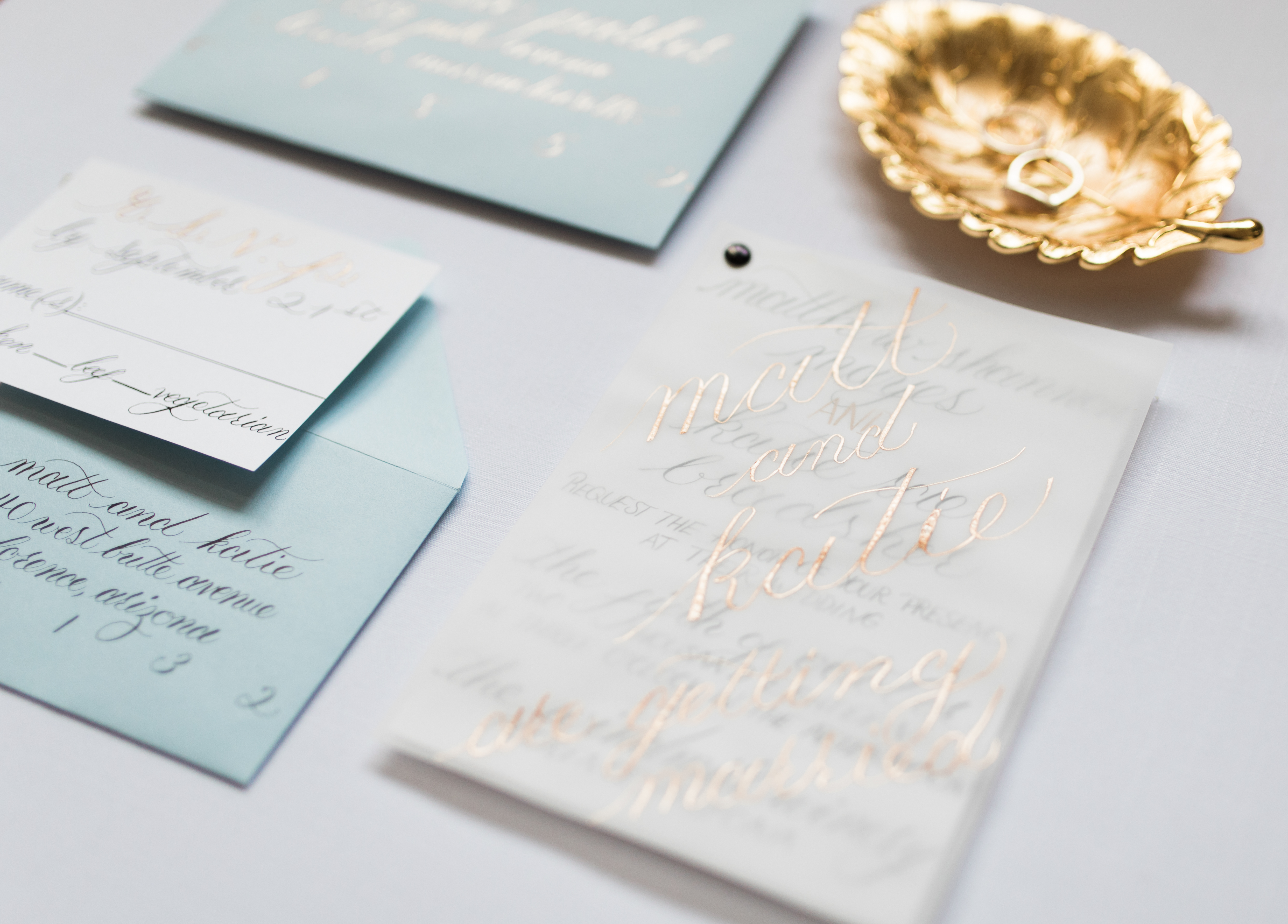 Modern Classic Calligraphy Wedding Invitation