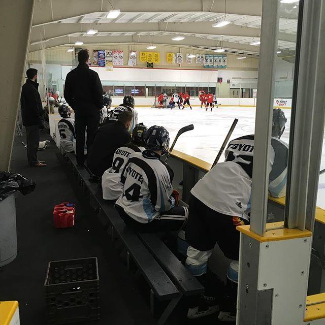 Tournoi de hockey des Coyotes! Ne manque pas les finales à 13 h 30! #yotespack #hockey #coyotesonice