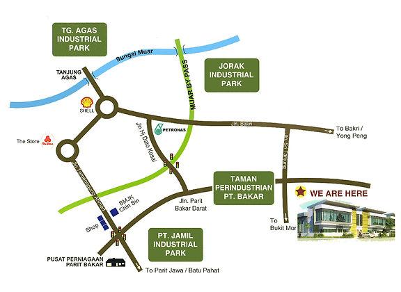 Sunbay Factory Seri Tanjung Location Map.jpg
