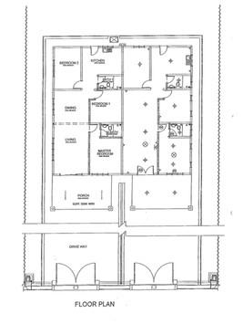 Single Storey Semi Detached  Floor Plan