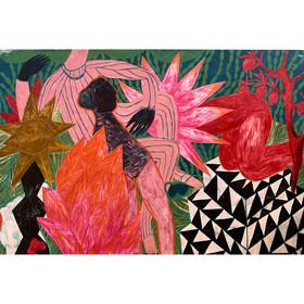 The Garden Into The Shelter,oil,canvas,1
