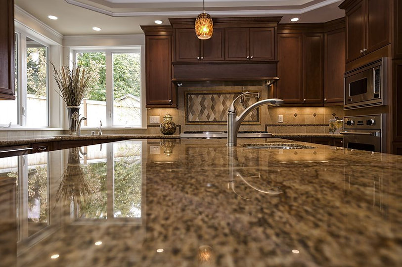 close-up-shot-of-granite-kitchen-counter
