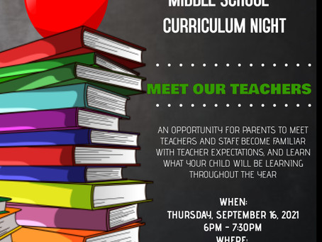 M.S. Come meet your child's teacher and staff