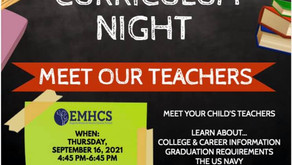 H.S. Come meet your child's teacher and staff