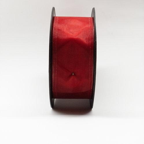 Szyfon z drutem 40mm ciemny czerwony