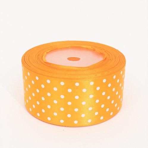 Atłas kropka 40mm jasny pomarańcz