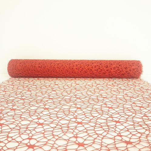 Koronka 50cm czerwony