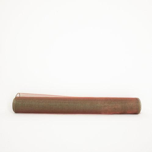 Organza 40cm bordo/ciemna zieleń 5086