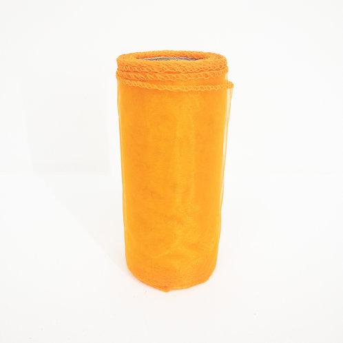 Organza 12cm pomarańcz 5037